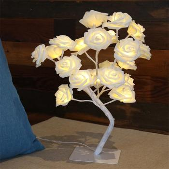 Home Wedding Decoration Led Rose tree Lamp Desk Top Rose Tree Night Light