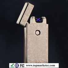 Best seller crazy lighters, double ARC cigarette lighter,usb electronic lighter