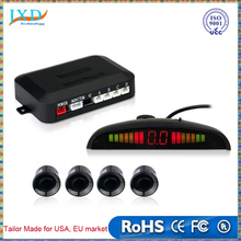 Car LED Parking Sensor Kit Display 4 Sensors for all cars Reverse Assistance Backup Radar Monitor System