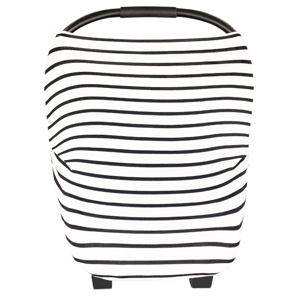 Stripe cotton stroller cover women baby nursing scarf