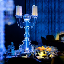 Lucite tall pillar candle holders,Acrylic Event Decors