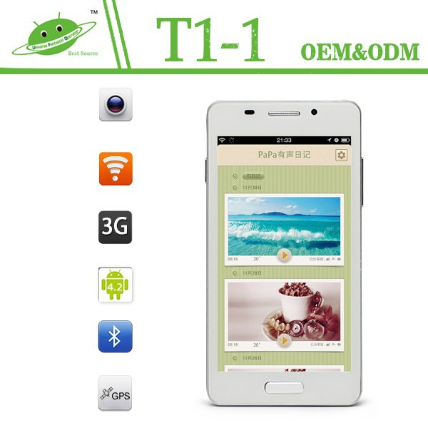 Consumer electronic 5 inch MTK6572 Dual Core 512MB 4G optional mtk 6572 dual core unlocked android phone