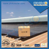 Pitched rooftop L feet solar racking system