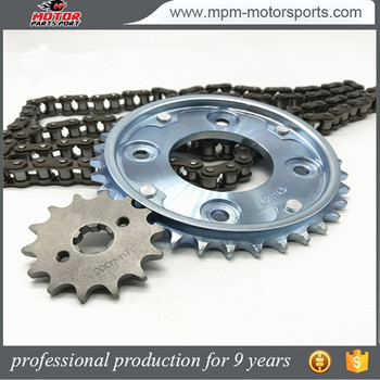 RC100 Motorbike Chain and sprockets kits for ECUADOR market
