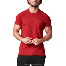 Custom Mens Apparel Gym Exercise Clothing Raglan Sleeve Fitness T Shirts UK