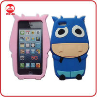 Cute 3D OX Pull Cow Boy Silicone Animal Shaped Phone Cases for iphone 5