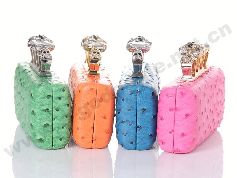 Custom Fashion Skull box clutch_U0008-295