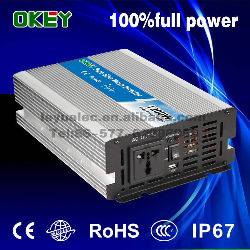 1200w dc to ac transformer short circuit pure sine wave solar power inverter with battery charger 48vdc to 220vac