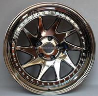 chrome sport car wheel/ aluminum alloy wheel rims 19 inch