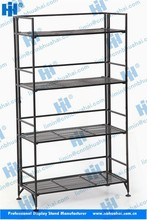folding portable kitchen microwave oven stand metal shelving rack
