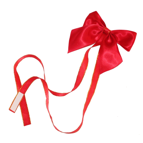 100% polyester double faced satin ribbon Handmade packing bow with two bands on back For gift