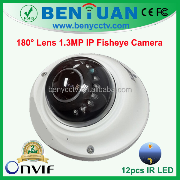 Top10 Surveillance HD Camera, plug and play ip camera, 180 Degree 1.3MP IP Fisheye Camera