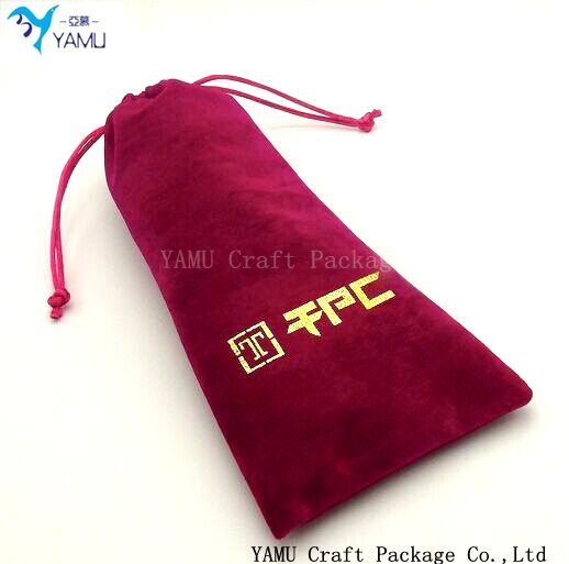 Pen velvet pouch/drawstring glasses flannel velvet bag/drawstring gift bag