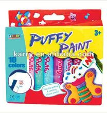 10-color 10.5ML puffy paint, box packing