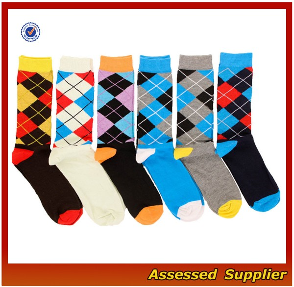 WH-121 high quality best machine made happy tube socks, dress business cotton soft crew custom sock for men and women