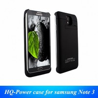 4200 mah portable power bank charger external backup battery case cover charger with PU leather flip for samsung galaxy Note 3