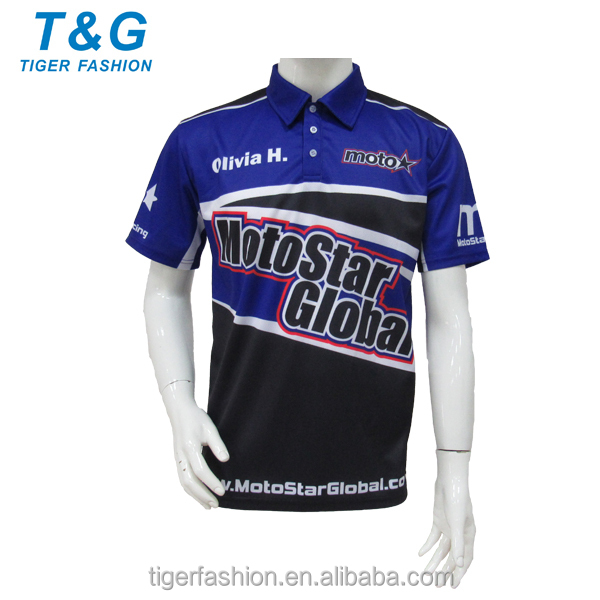 Mens shirts custom 100% polyester motorcycle racing f1 shirts