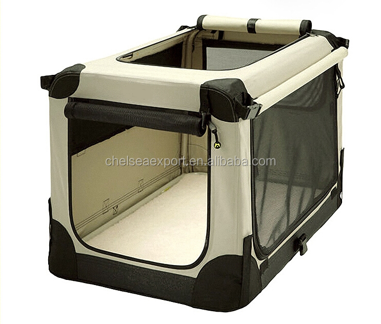 pet soft crate Dog Kennel pet carrier oxford thick steel tube shelf