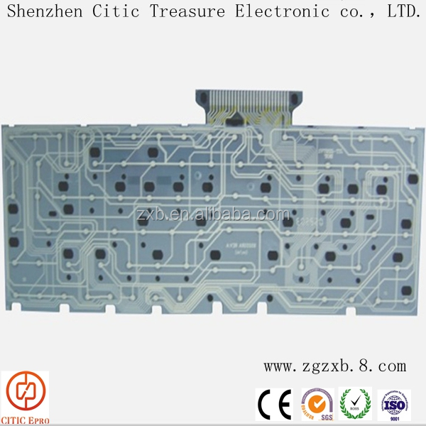 Membrane circuit switches keyboard with conductive silver paste