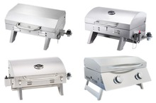 Portable Mini Stainless Steel Table Top Gas BBQ Barbecue Grills for Camping Outdoor Kitchen Cooking