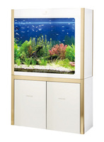 Cleair Glass Aquarium CZG admiration series with unilateral filtration luxury metal decoration