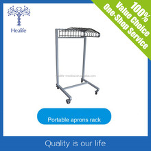 Stainless Mobile Lead Apron Rack With 10 Arms