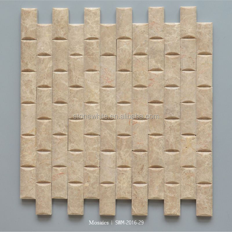 Beautiful High Quality Imported Plolished Marble Mosaic 3D Wall And Floor Tile