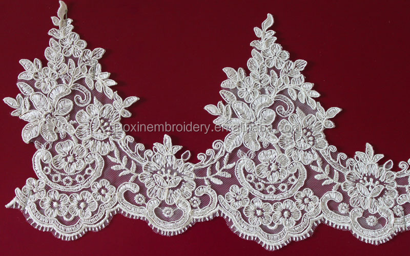 2016 Ivory Flower Guipure Lace Trim Fabric Bridal Wedding Lace Trimming