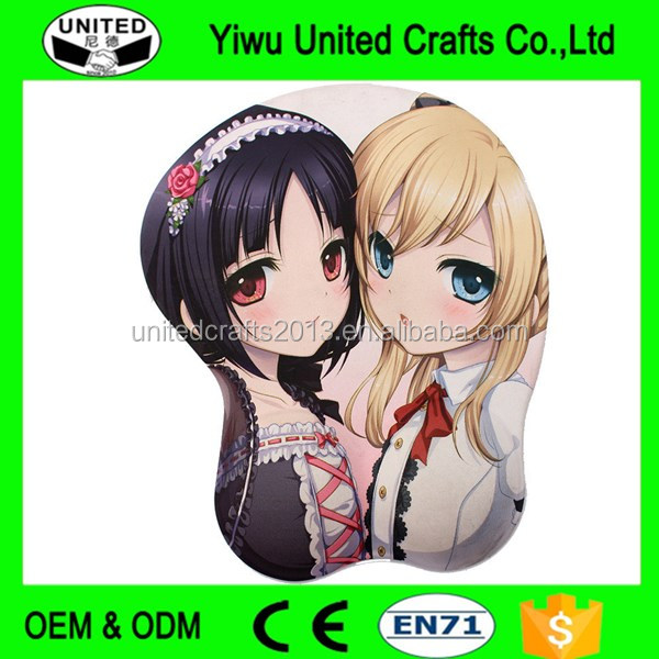 BIG chest 3D sex girl game mouse pad figure Anime Cartoon new Free Sample
