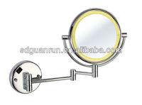 Ultrathin double sides brass bathroom magnifying LED wall mounted lighted makeup mirror HL912B