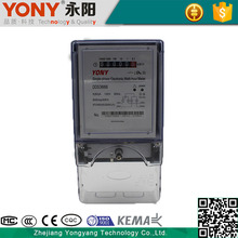 Active Measurement Reliable Power Protection Electronic Single-Phase Watt-Hour Meter