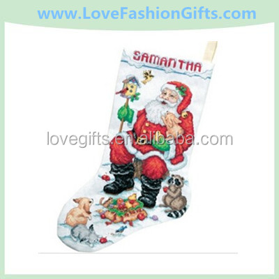 Santa/Animals Stocking Cntd. X-Stitch Kit