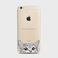 Phone cover cute phone cases kitty cat head Soft TPU customize phone case For iPhone 4 4S 5C