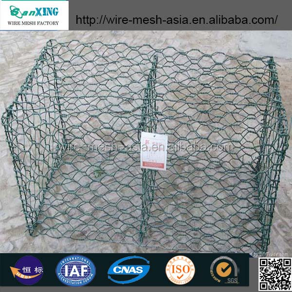 2015new product High quality Galvanized Hexagonal wire mesh/fencing/gabion box retaining wall in China