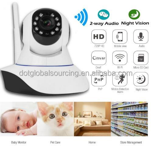 HD 720p Wireless Ip Security Wifi Network Night Hd Vision Ir Outdoor CCTV Home P2P Webcam Audio Surveillance Ip Camera
