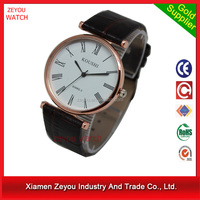R0757 (*^__^*) China Watch Factory Newest Design Watch Made in Germany , Leather Band Watch Made in Germany