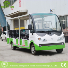 fashonal unclosed 14 seats electric cars made in china