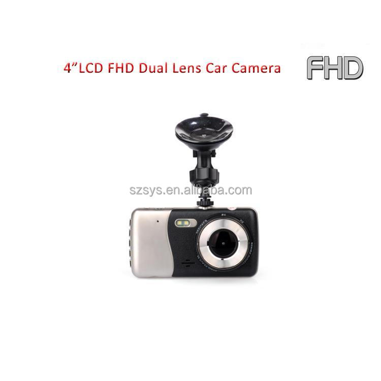 FHD 1080P Dual Lens Vehicle Data Car DVR Camera 4.0 Inch IPS Screen Driver Video Recorder Dash Cam G-Sensor Parking Monitor