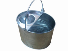 Home-use Galvanized Metal Cleaning Mop Bucket with Wringer