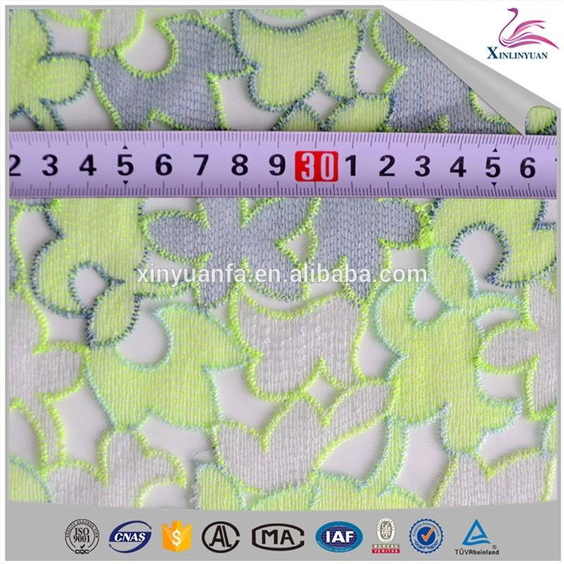 High Quality full mesh lace fabric