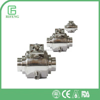 Sanitary Stainless Steel Manual Welding Ball Valve With Thermal Insulation Function