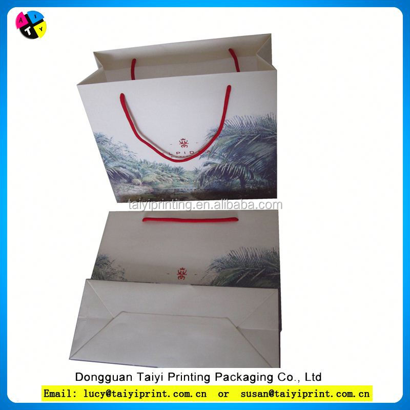 Customized printed carry out bag for mcdonalds/kfc and burger king