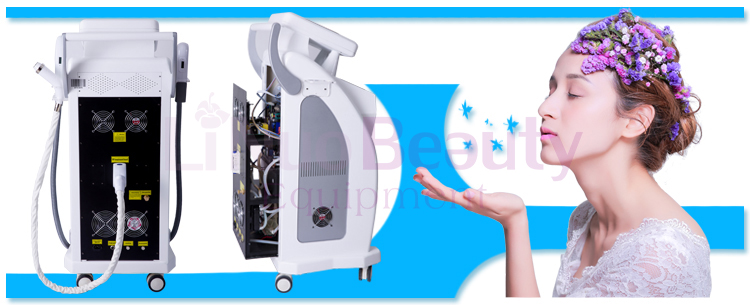 With CE 3 in 1 Multifunction e-light ipl OPT SHR Nd Yag laser body hair removal machine equipment