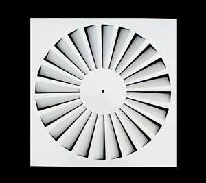Hvac air conditioning square panel ceiling diffuser swirl air diffuser