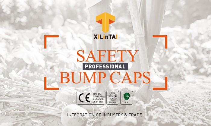 Navy blue industrial safety bump baseball caps