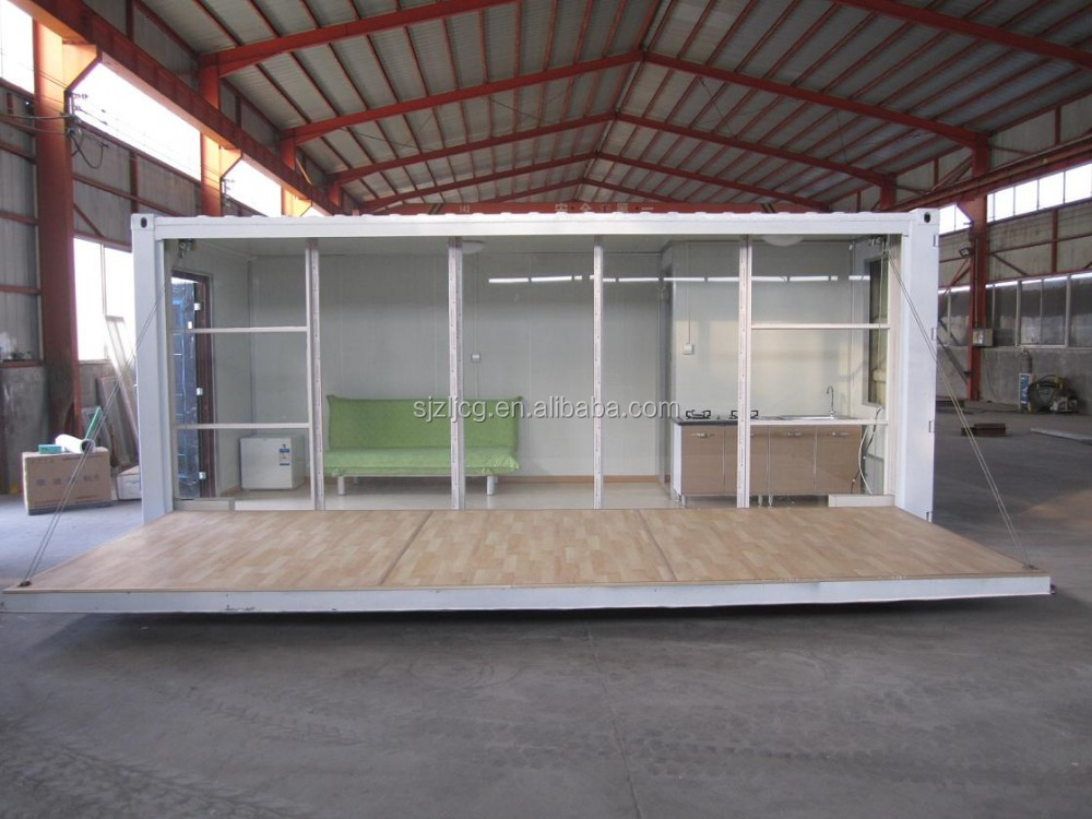 Prefab caravan house,modern 2 story 20ft prefabricated living container house, office container house