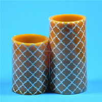 Customed Luxury Brand glass holder 7 day religious candles