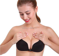 Strapless Self Adhesive Bra Reusable Strapless Padded Very Sexy Invisible Push Up Bra