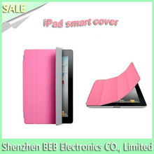 Colorful leather case for ipad smart cover has low price
