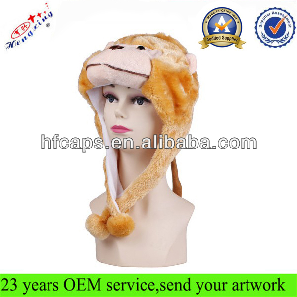 Warm Winter Long Eared Animal Hat Scarf Gloves Faux Fur Animal Hat Winter Animal Hat IN STOCK
